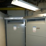 Two of thirteen low voltage transformers installed throughout the Capital